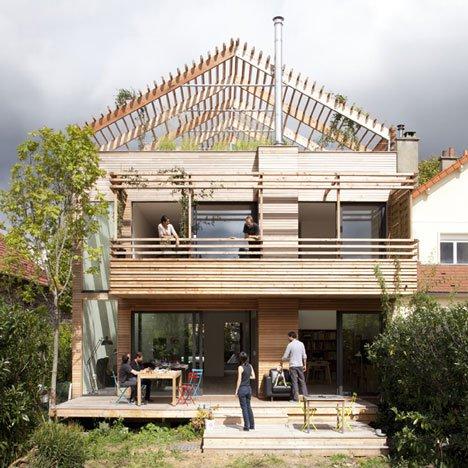 частный  дом с плоской крышей фото 4