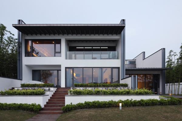 загородный дом в китайском стиле по проекту Atelier FCJZ
