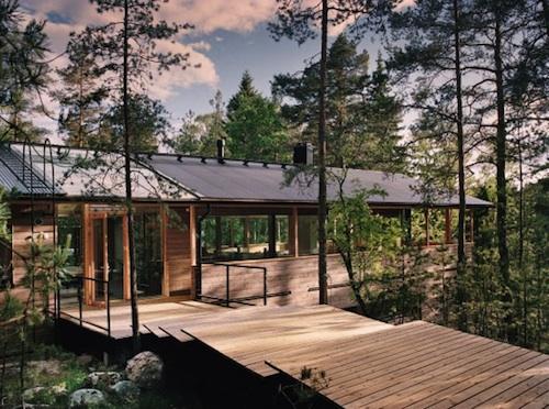 деревянный дом в скандинавском стиле по проекту POOK