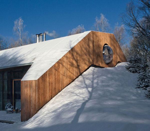 Невероятный загородный дом в горе по проекту Denieuwegeneratie