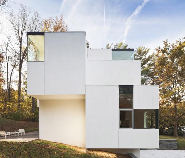 загородный разноуровневый дом по проекту David Jameson Architect