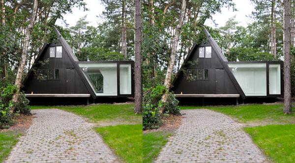 дачный минималистский дом по проекту dmvA