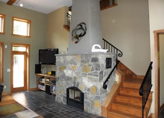 интерьер эко-дома  по проекту Chandler Design-Build