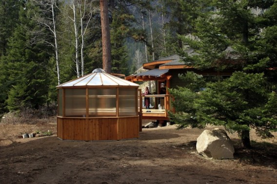 Круглый сборный дом фото 4