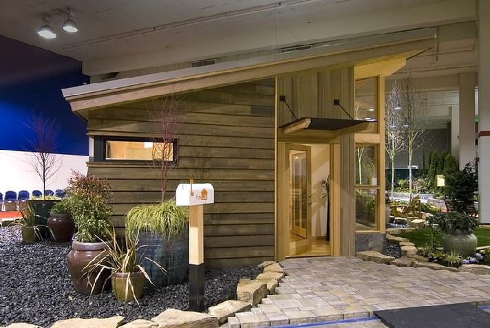 загородный дом с деревянным каркасом по проекту FabCab