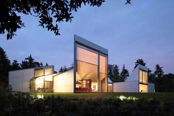 Неординарный геометрический дом фото 1