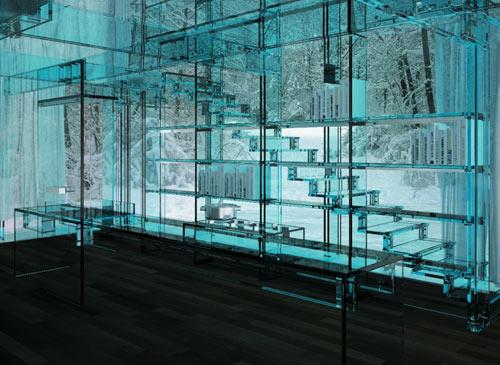 Дом из стекла Santambrogio - интерьер