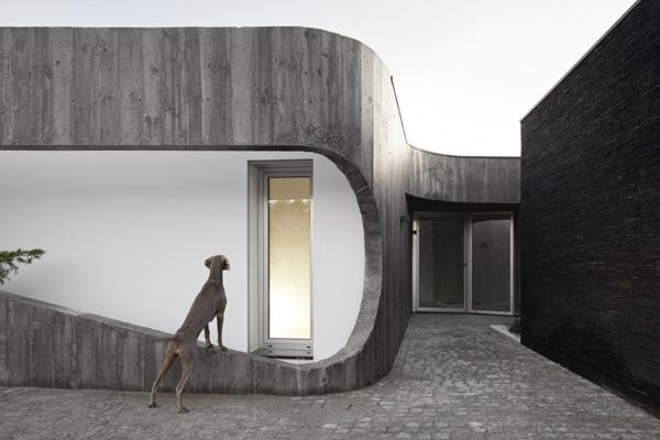 частный дом на контрастах с внутренним двориком фото 3