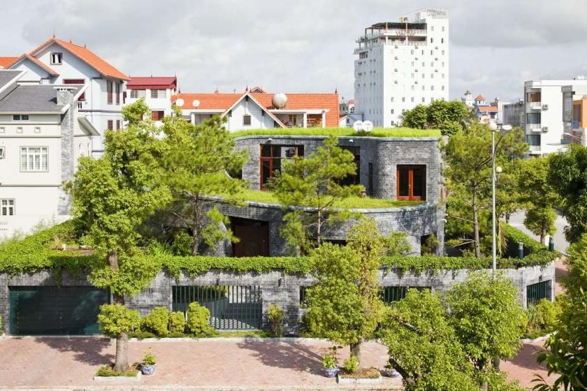 каменный дом-спираль - проект Torus House