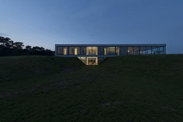 Загородный дом со остекленным фасадом фото 1