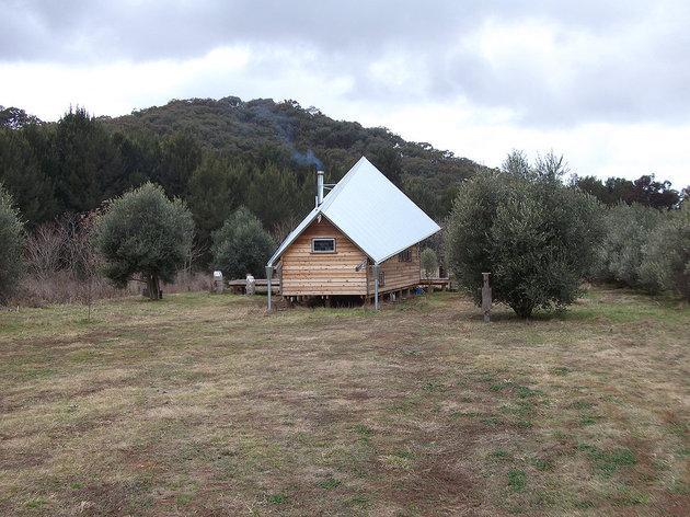 загородный дом под тентом фото 3