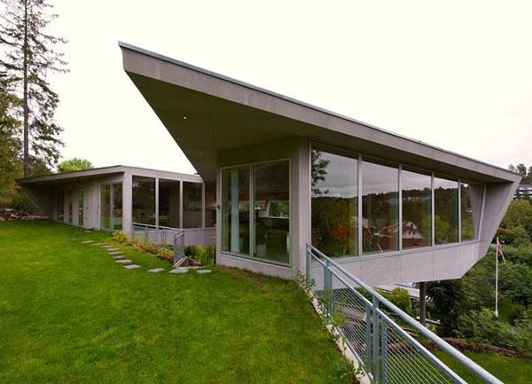 частный дом на утесе: на острие дизайнерской фантазии