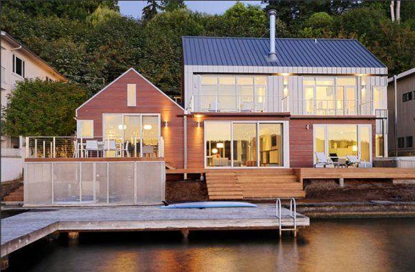загородный проект дома у озера