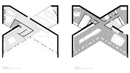 Крестообразнай дом план