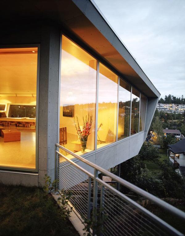 загородный дом на утесе: на острие дизайнерской фантазии