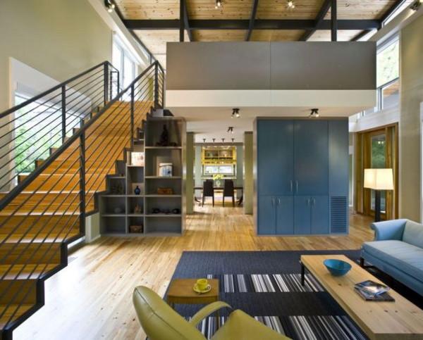 Экологичный дом по проекту Роберта М. Кейна - гостиная