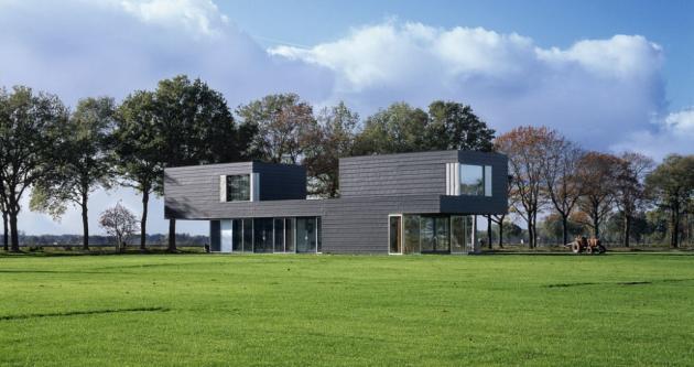 загородный дом Vriezenveen по проекту Zecc Architects