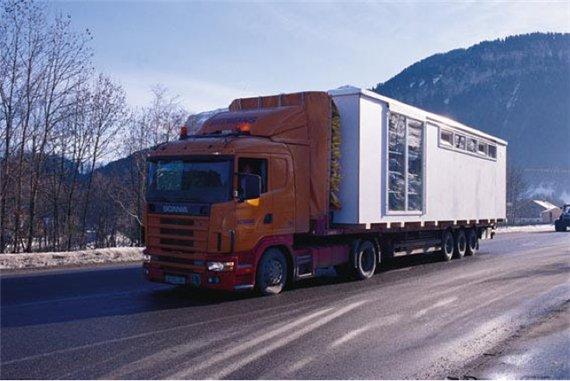 транспортировка портативного дома - СЮЗИ