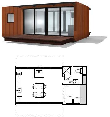 Сброный микро-дом - проект