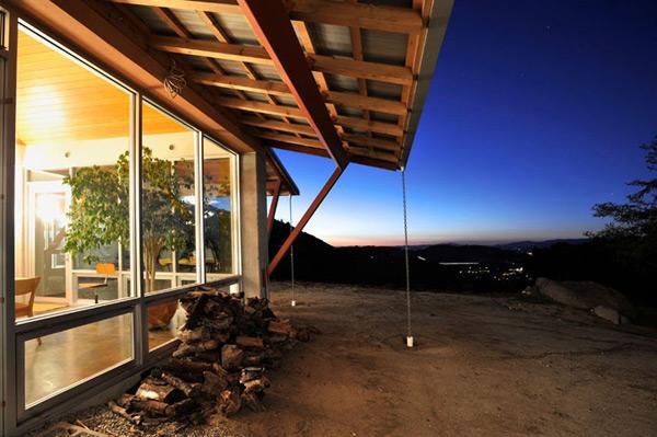 загородный дом ранчо - Raised House Plan
