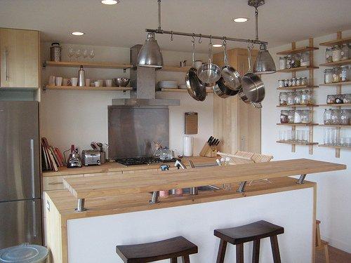 Живописный сборный дом - кухня