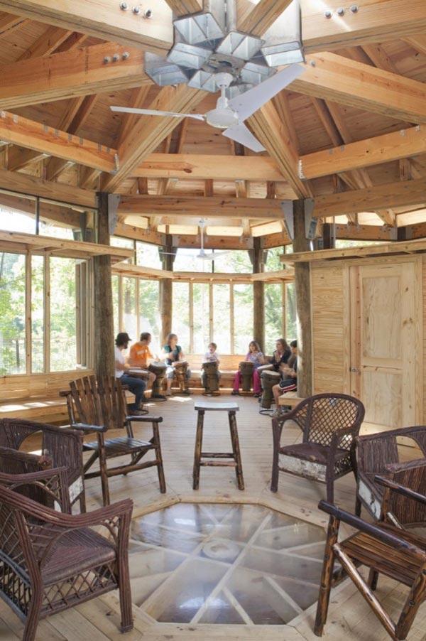 деревянные дома у озера