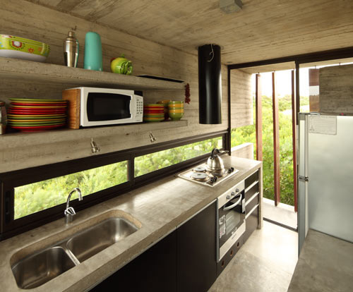 Проект летнего дома - фото кухни