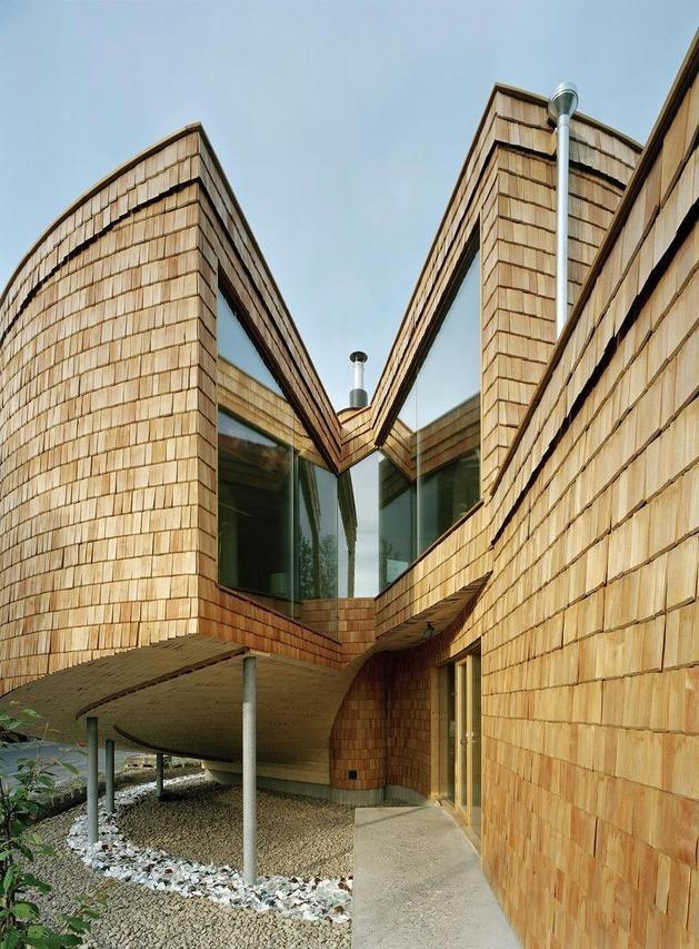 Спиральный загородный дом по проекту Olavi Koponen