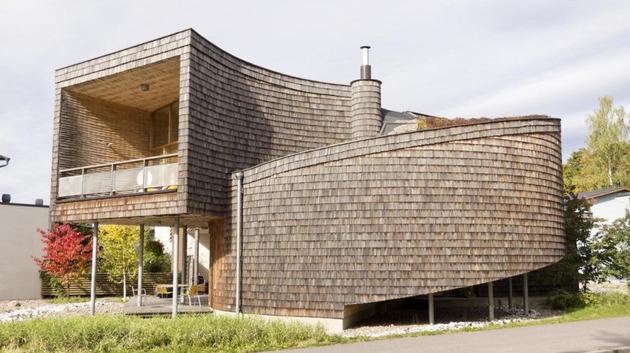 Спиральный дом по проекту Olavi Koponen