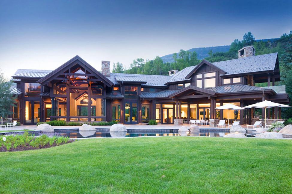 загородный дом в американском стиле