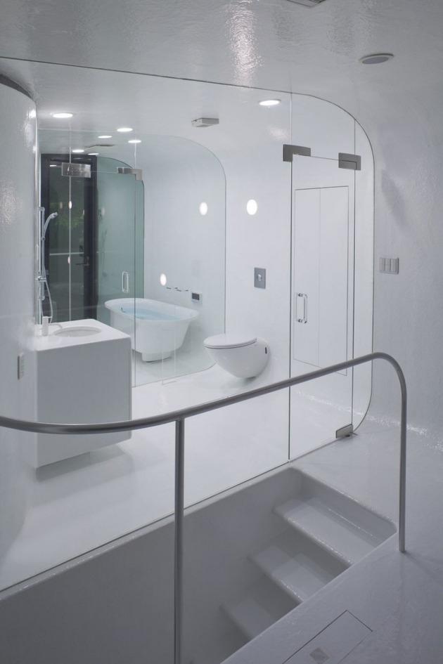 современный загородный дом- ванная