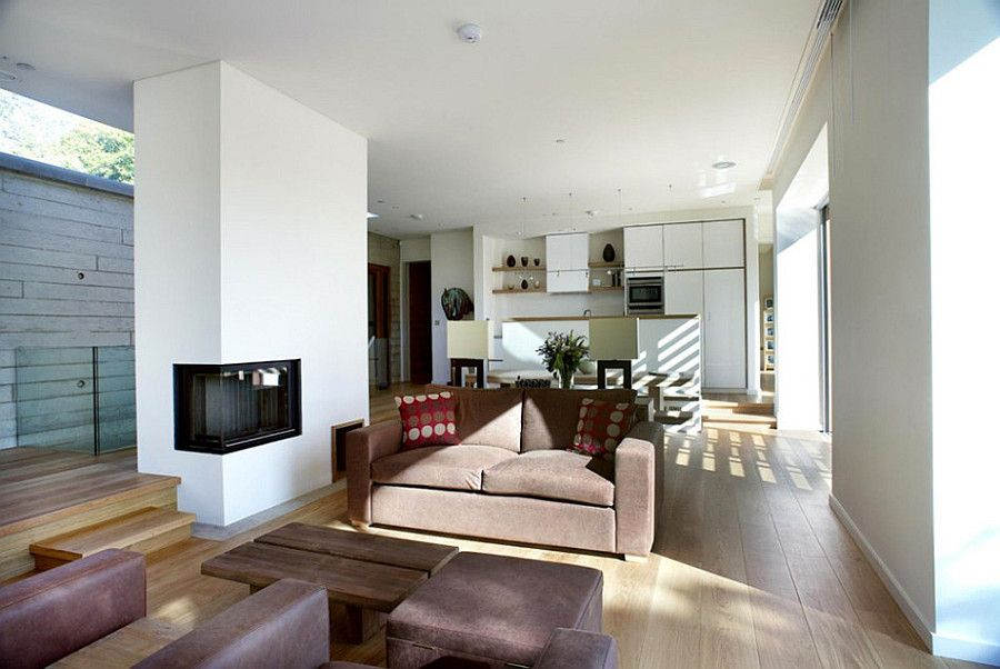 Дом 120 кв м - камин