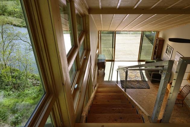 интерьер дома из металлокаркаса