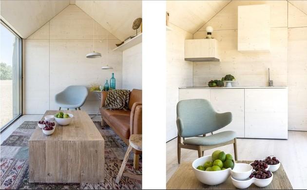 сборный домик по доступной цене - кухня-гостиная