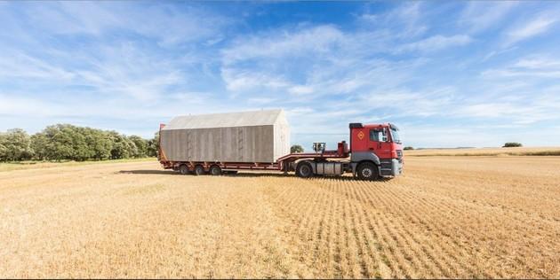 сборный домик по доступной цене -грузовик