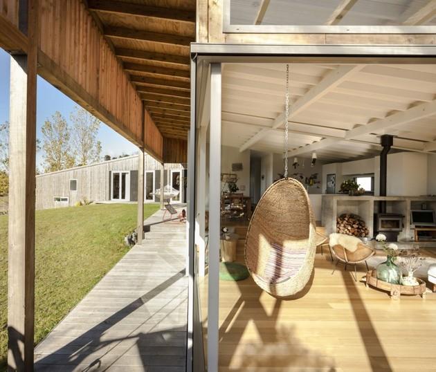 гостиная загородного дома