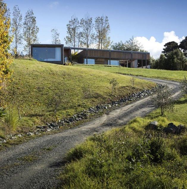 дорога к загородному дому