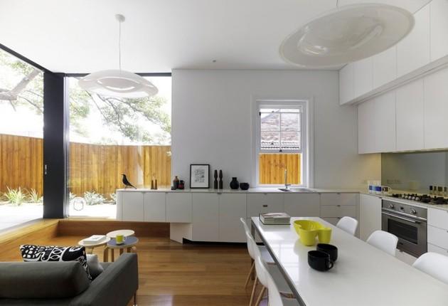 кухня совмещенная с гостиной в собственном доме