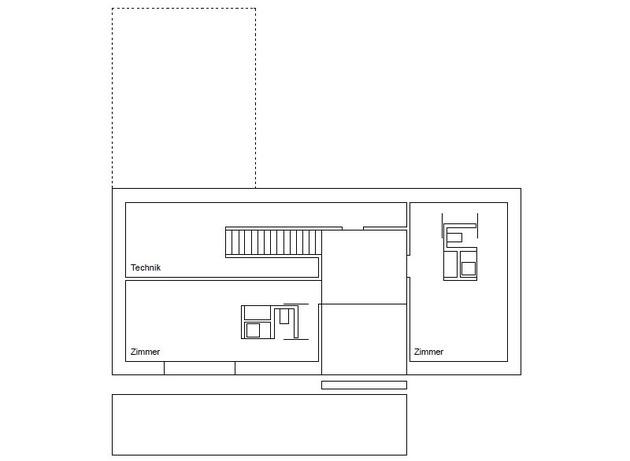 план верхнего этажа трехэтажного коттеджа