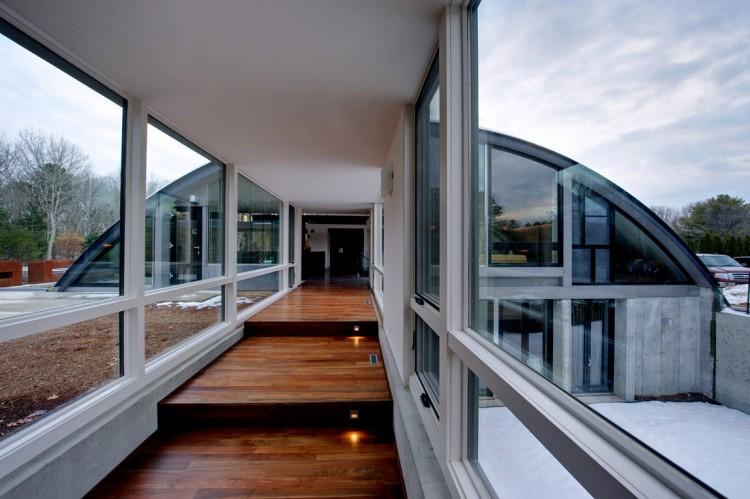 стеклянная галерея в доме
