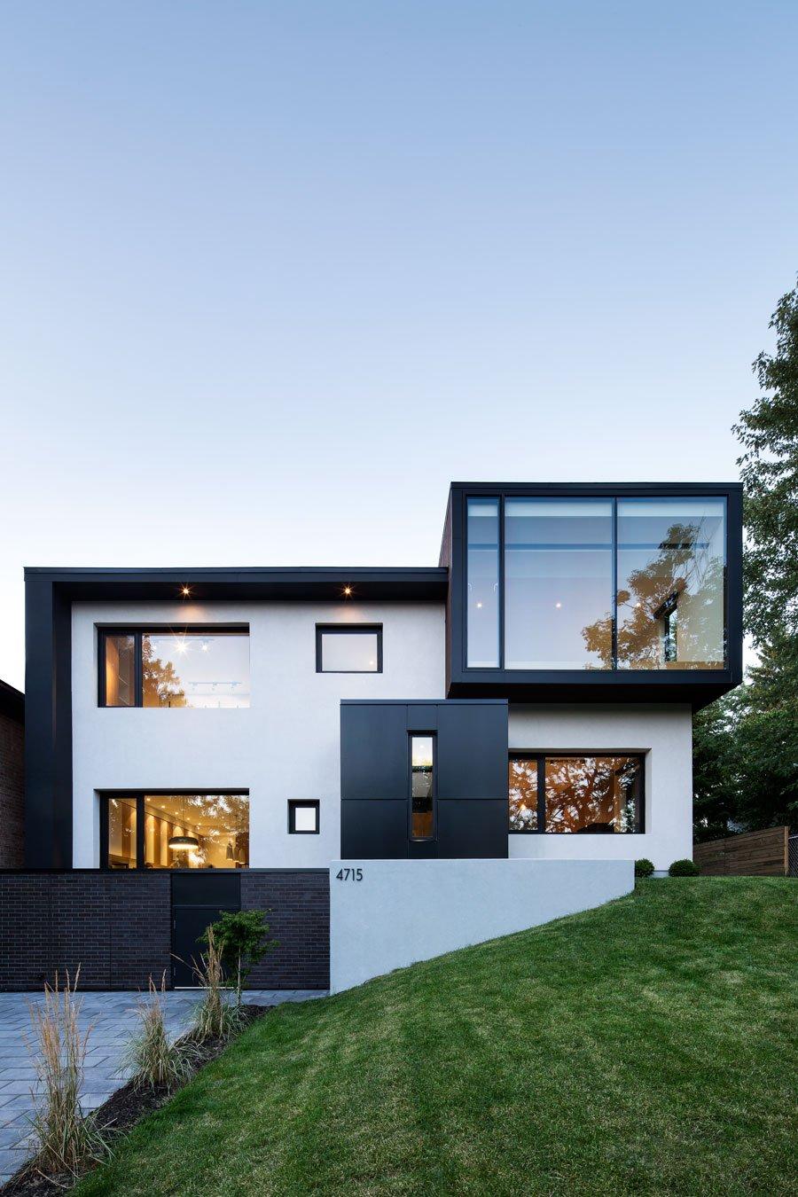 Полная реконструкция бетонного дома экстерьер
