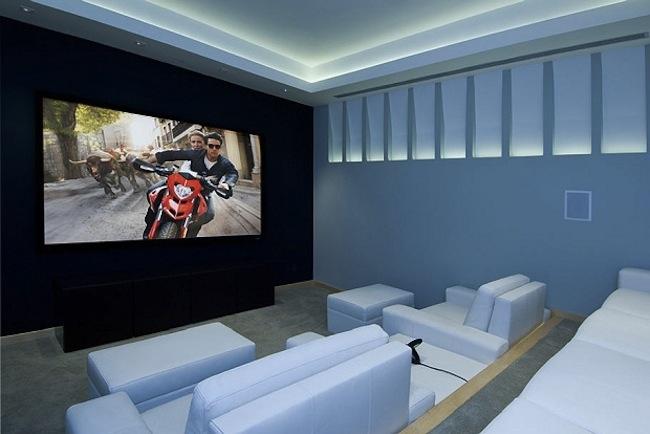Роскошный особняк холостяка кинотеатр