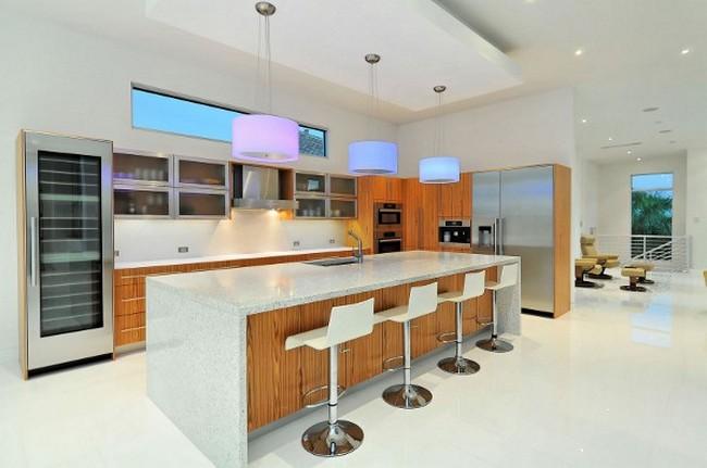 Современный дизайн частного дома - кухня