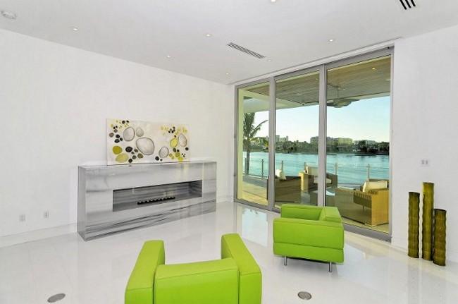 Современный дизайн частного дома - гостиная
