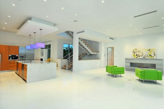 Современный дизайн частного дома - интерьер