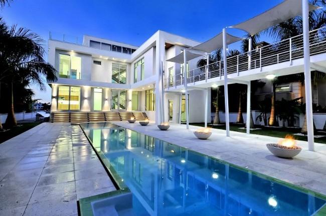 Современный дизайн частного дома фото бассейна