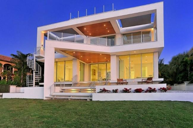 Современный дизайн частного дома экстерьер