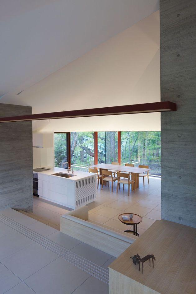 фото особняка с разноуровневыми потолками 10