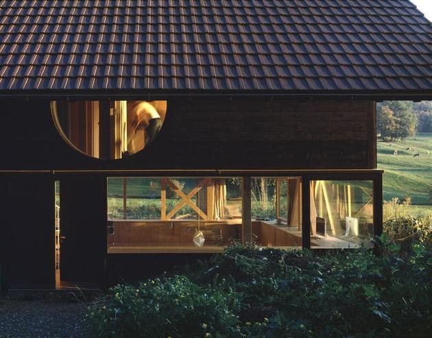 фасад деревянного дома 1