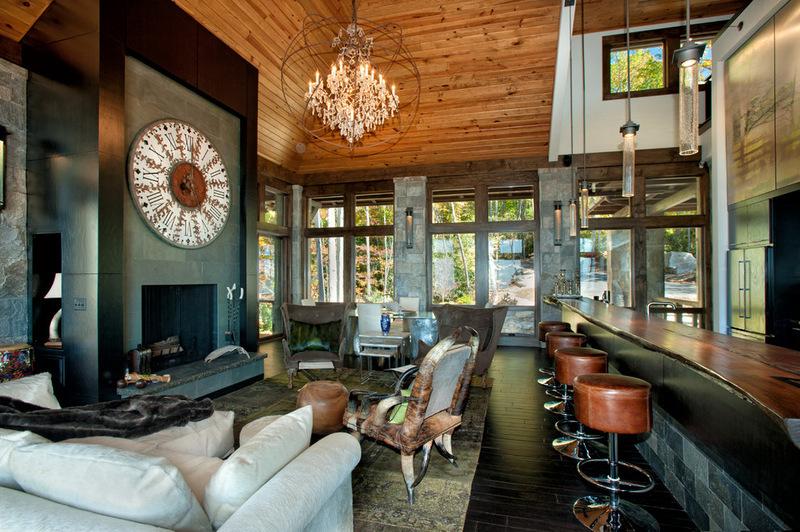 Двухэтажный домик - гостиная